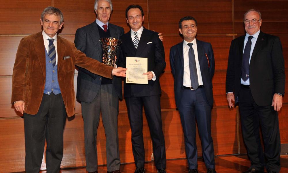 ALBERTO CIRIO PREMIATO SPORTIVO PIEMONTESE DELL'ANNO 2014 DA CONI E REGIONE PIEMONTE