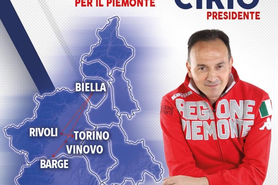 AGENDA VELOCE_10 MAGGIO: OGGI A TORINO, RIVOLI, BIELLA, VINOVO, SALUZZO E BARGE