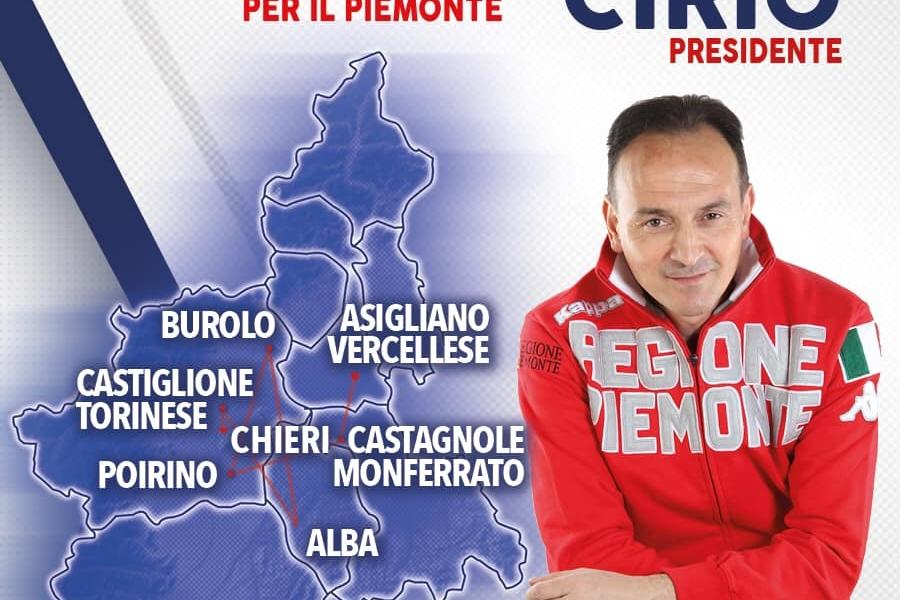 AGENDA VELOCE_12 MAGGIO: OGGI A ASIGLIANO VERCELLESE, BUROLO, CASTAGNOLE MONFERRATO, POIRINO, ALBA, CASTIGLIONE TORINESE, CHIERI